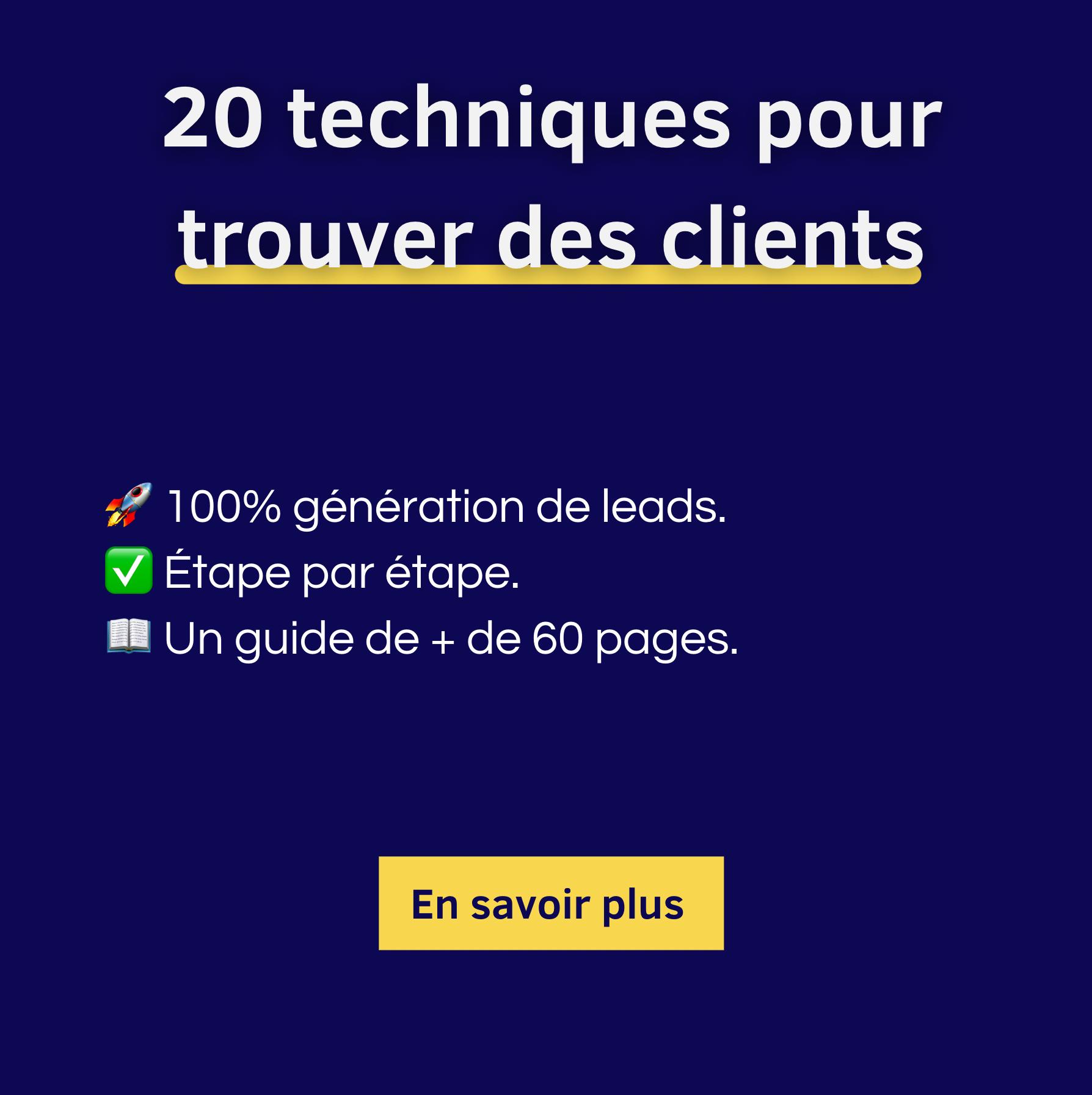 20 techniques pour trouver des clients